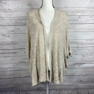 Eileen Fisher Beige Knit Karma Ripple Cardigan